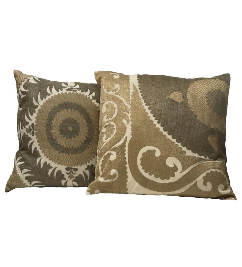 Suzani Pillow: Earth