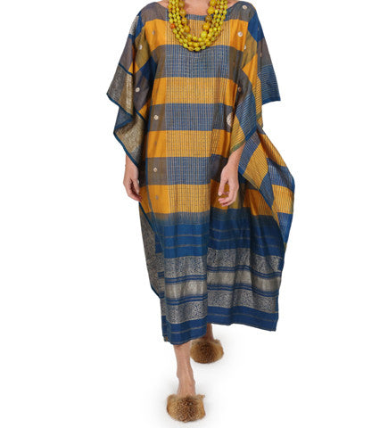 Gold and Navy Caftan