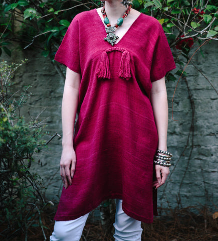 Wild Silk Tunic: Fuschia