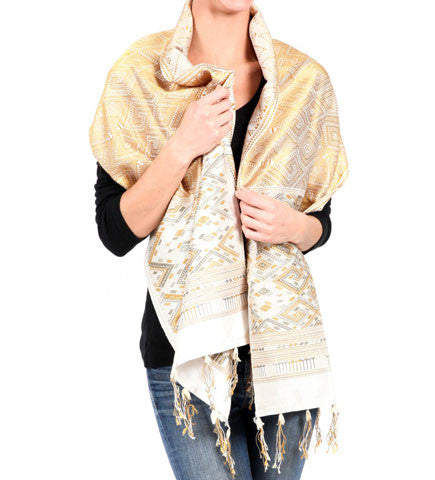 Gold and Silver Diamond Shawl
