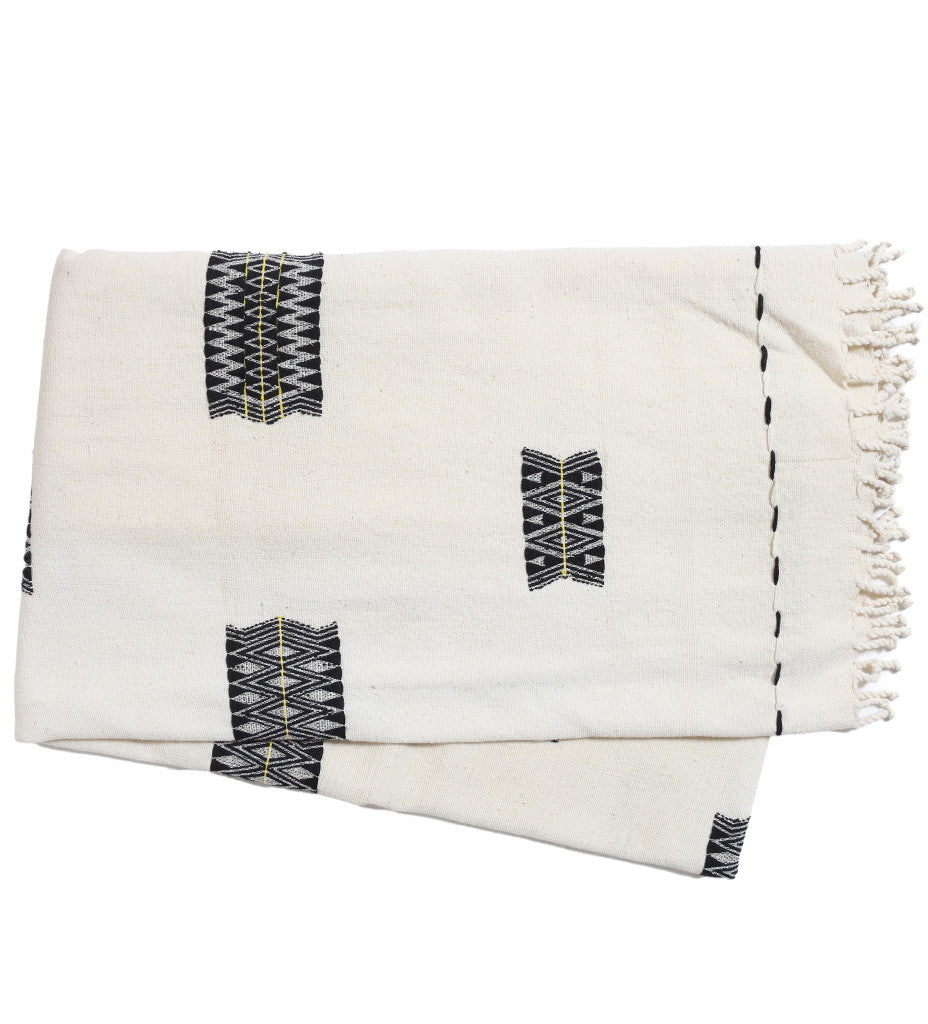 Naga Black/White Throw