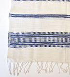 Ethiopian Cotton Hand Towel: Navy Ribs