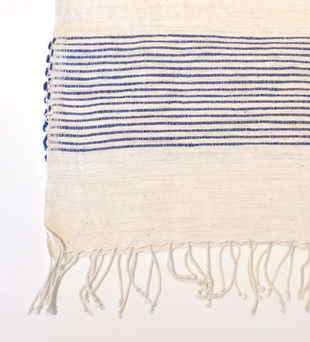 Ethiopian Cotton Hand Towel: Navy Stripes