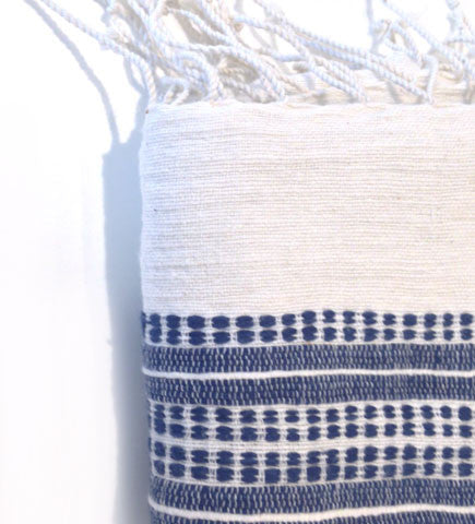 Ethiopian Cotton Bath Sheet: Navy Ribs