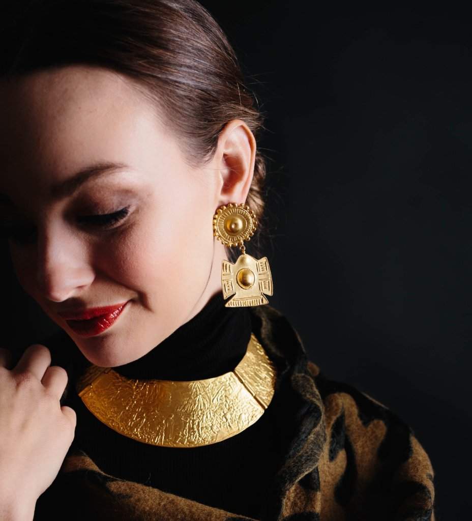 Talisman Large Brass Earrings