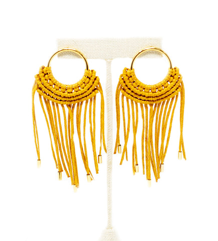 Colombian Woven Hoop Earrings: X-Large