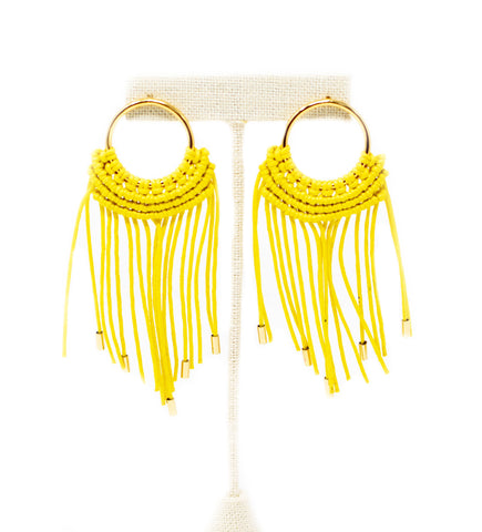 Cru Hoop Earrings: Yellow and Mint