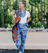 The Sideswept Dhoti Pant: Indigo Blockprint