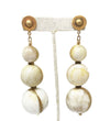 Three Orb Earrings: Gold