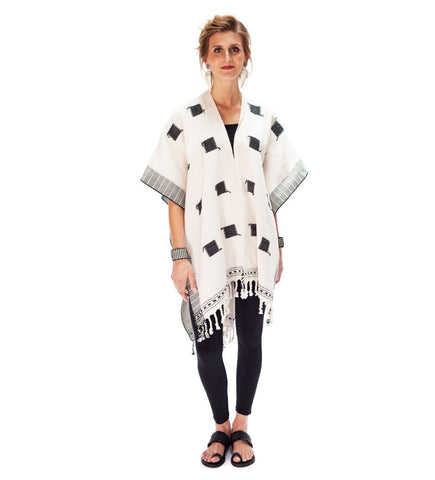 Aya Tunic: Black and White