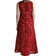 Totemic Dress: Burnt Red