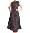 Totemic Dress: Chocolate on Black