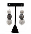 Afrodutch Mali and Grey Beaded Earring