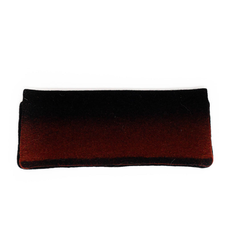 Tumar Felted Clutch: Black and Burgundy