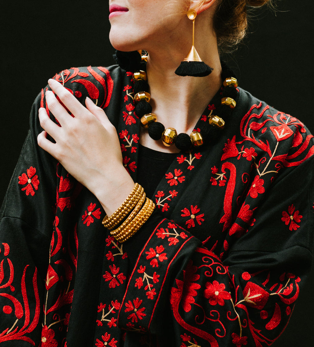 Turkmen Embroidered Coat