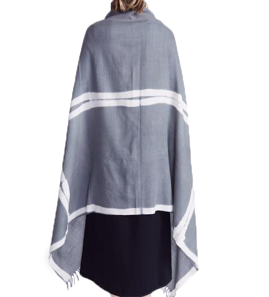Voluminous Pashmina: Charcoal