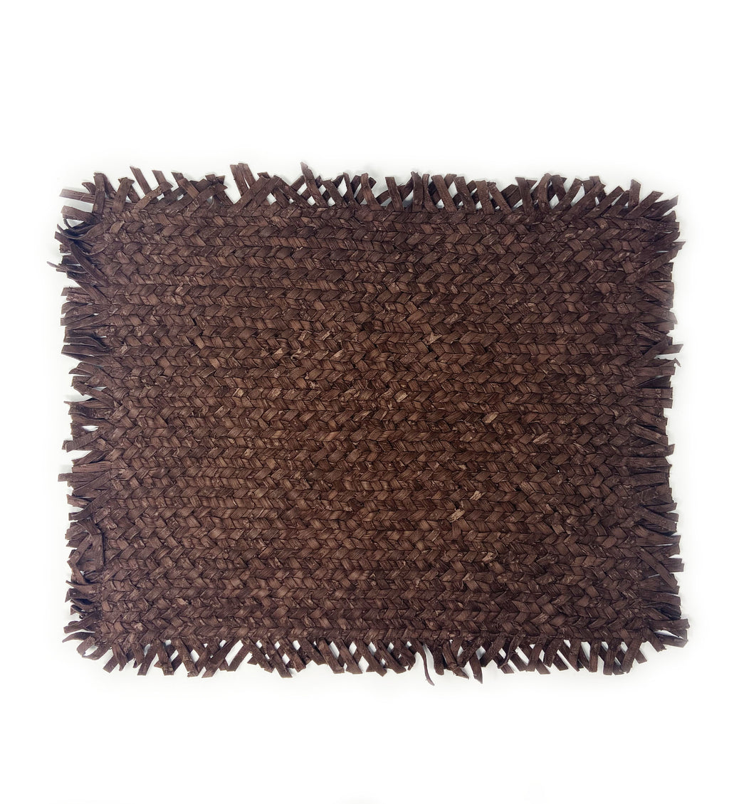 Wabi Sari Leather Placemat: Brown