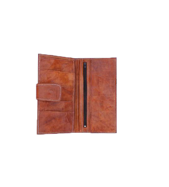 Tan and Orange Indigo Wallet