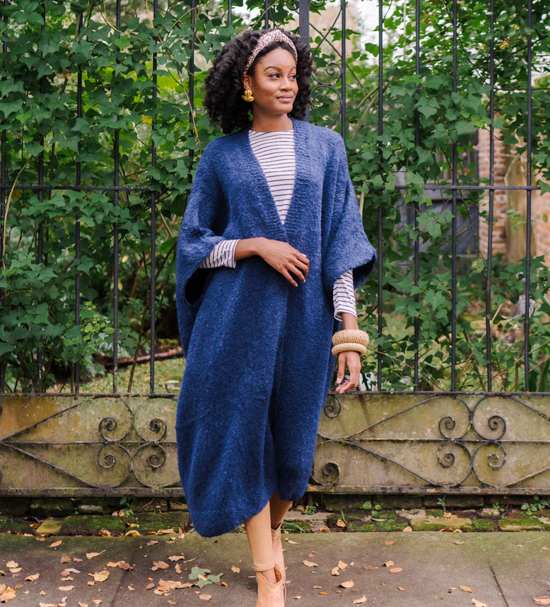 Oversized Wanka Coat: Navy