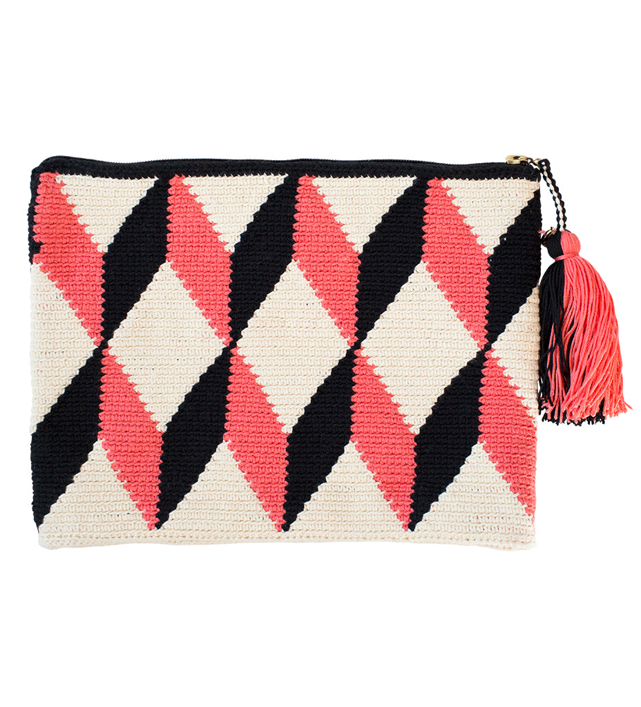 White and Coral Pochette
