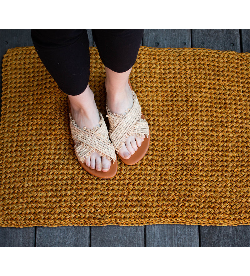 Woven Door Mat: Yellow
