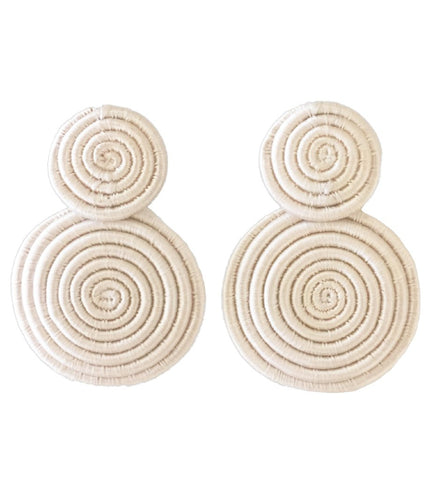 Skyburst Earring: Navy and White