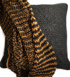 Woven Leather Throw: Black and Camel