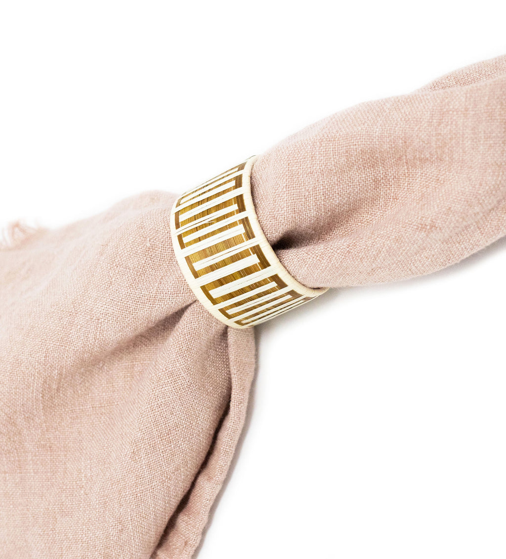 Woven Napkin Ring: Natural Maze