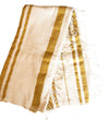 Woven Sun Beach Towel: Natural with Gold