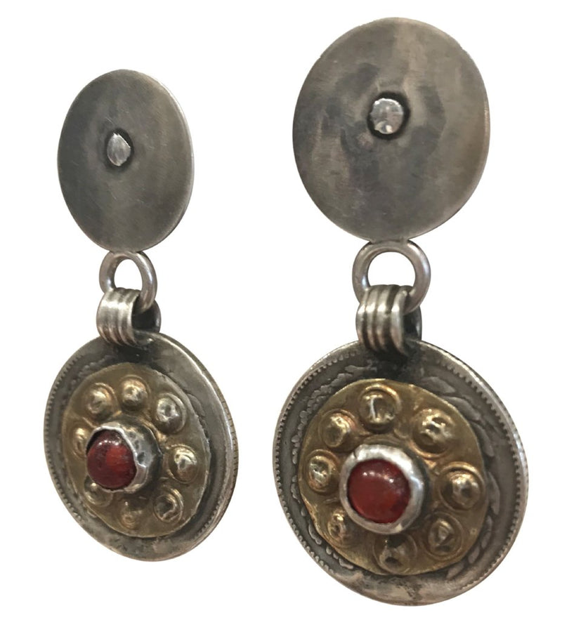 Yamut Red Glass Earrings