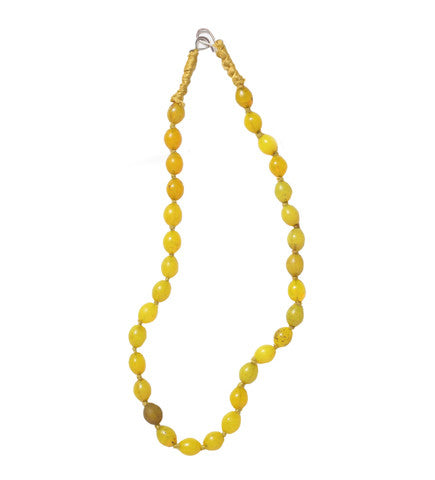 Luminescent African Glass Beads: Yellow Large