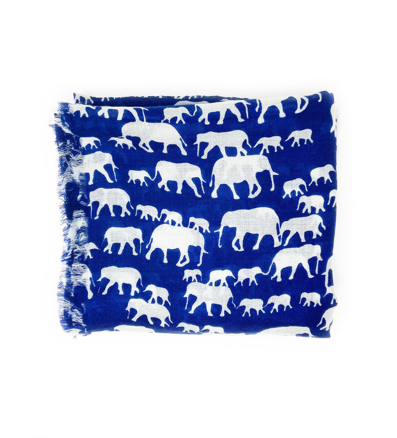 Running Elephant: Blue