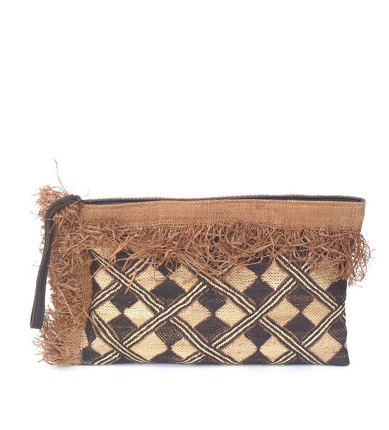 Zip Pouch with Fringe: Diamond