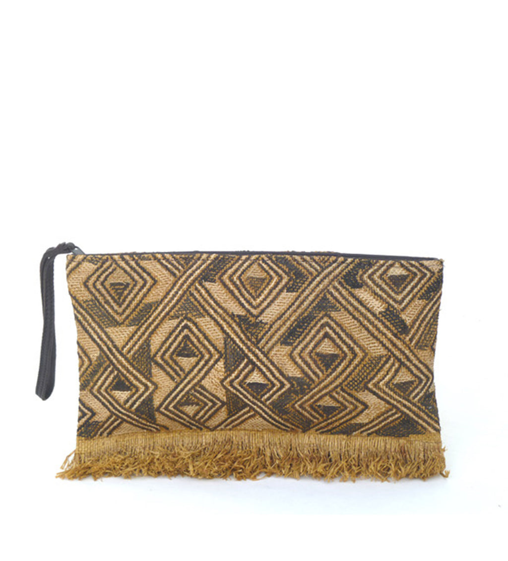 Zip Pouch with Fringe: Knots