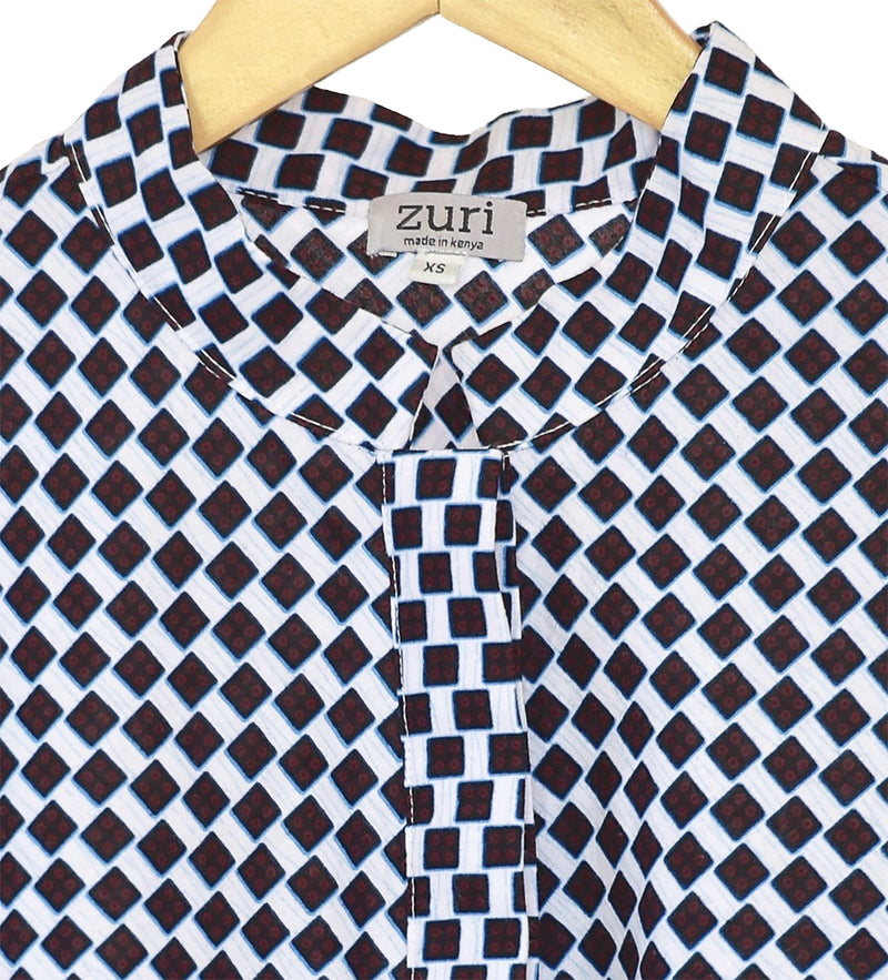 Zuri Swing Dress: Checkers