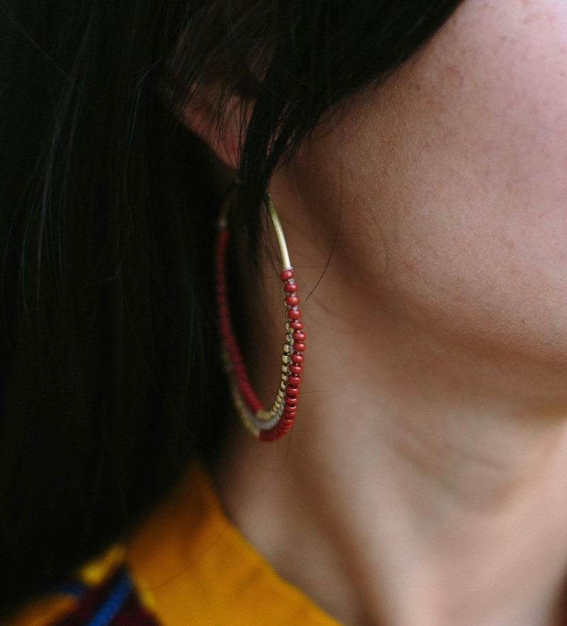 Beaded Naga Earring: Circle