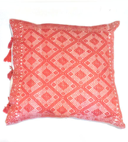 Chiapas Brocaded Square Pillow, 7 Color Options