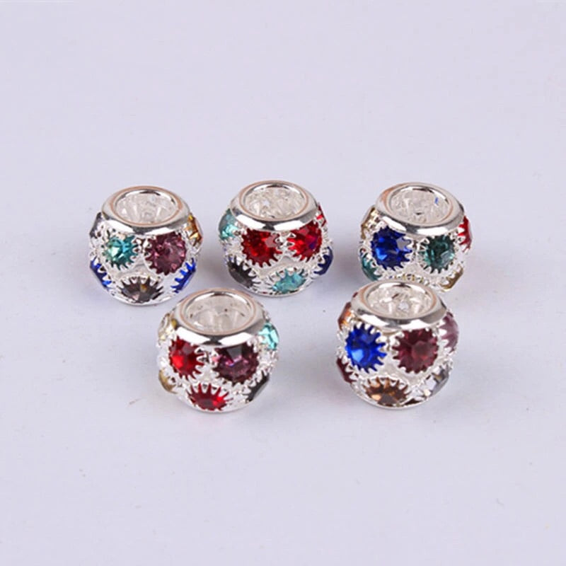 Rhinestone hair beads