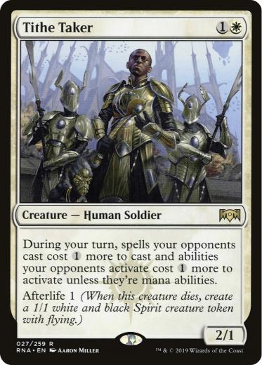 Orzhov Enforcer Double Sleeved 6% of 1981 decks +6% synergy. tithe taker