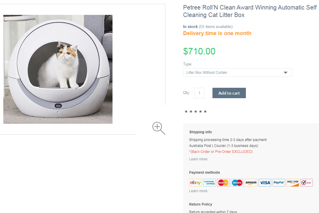 PETREE AUTOMATIC SELF CLEANING LITTER BOX
