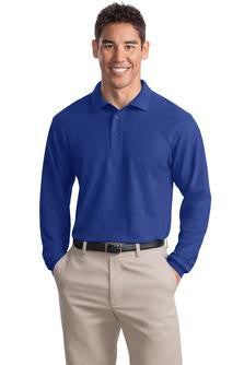 Embroidered National Federation of the Blind - Mens Long Sleeve Silk Touch™ Interlock Polo