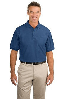 Embroidered National Federation of the Blind - Mens Silk Touch™ Interlock Polo with Pocket