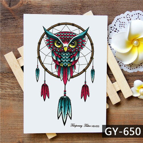 Dream Catcher Tattoo Owl