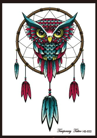 Dream Catcher Tattoo Mini Owl