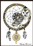 Dream Catcher Tattoo Golden Owl