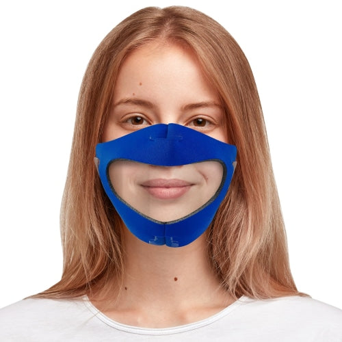 Face Mask With Anti-Fog Clear Window (Made In Usa)