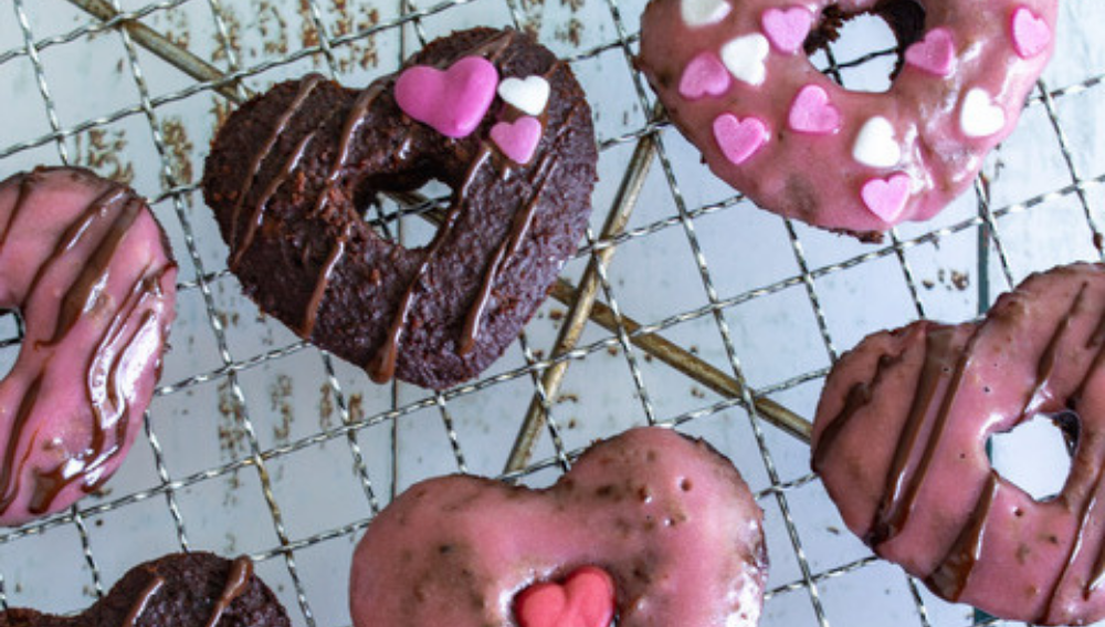 Choc Protein Donuts with Strawberry & Cream Frosting-VPA Australia