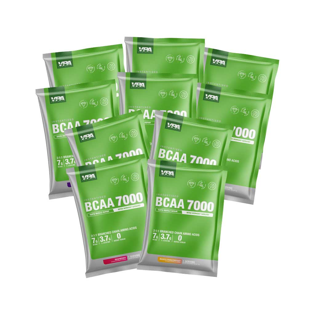 vpa bcaa 7000 flavoured bcaa samples - 5 flavours and 10 sample sachet
