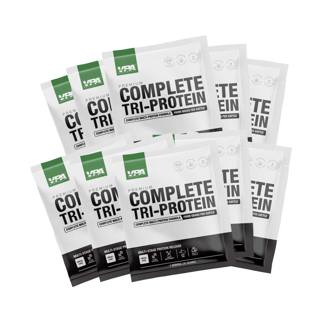 vpa complete tri protein sample pack - 2 flavours, 10 sample sachet