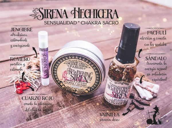 *Sirena Hechicera* -Set afrodisíaco- Witchy Box